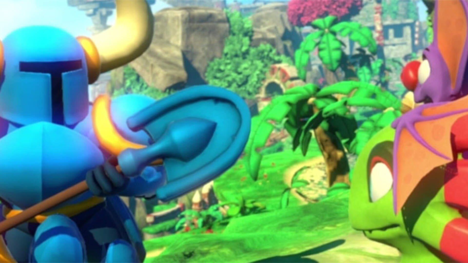 Shovel Knight Digs Into Yooka-Laylee's World