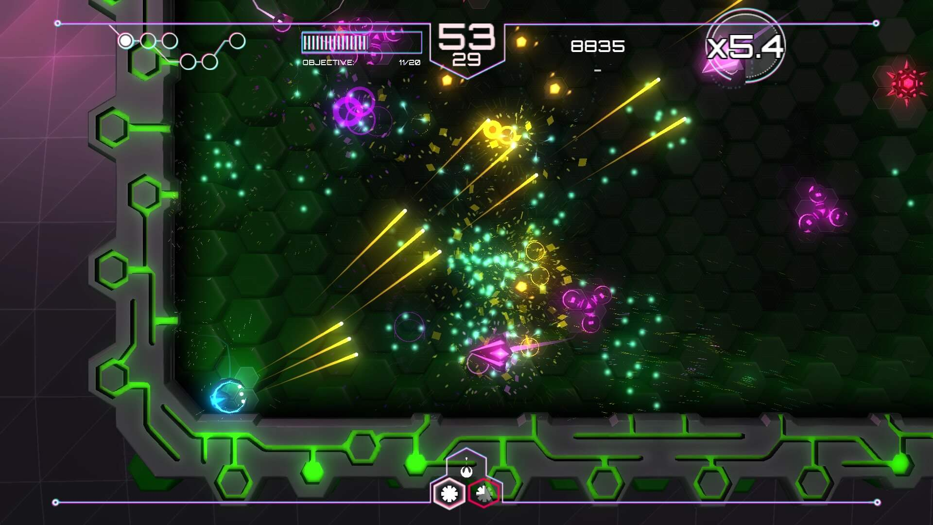 PS4 Twin Stick Shooter Battle: Tachyon Project vs AIPD