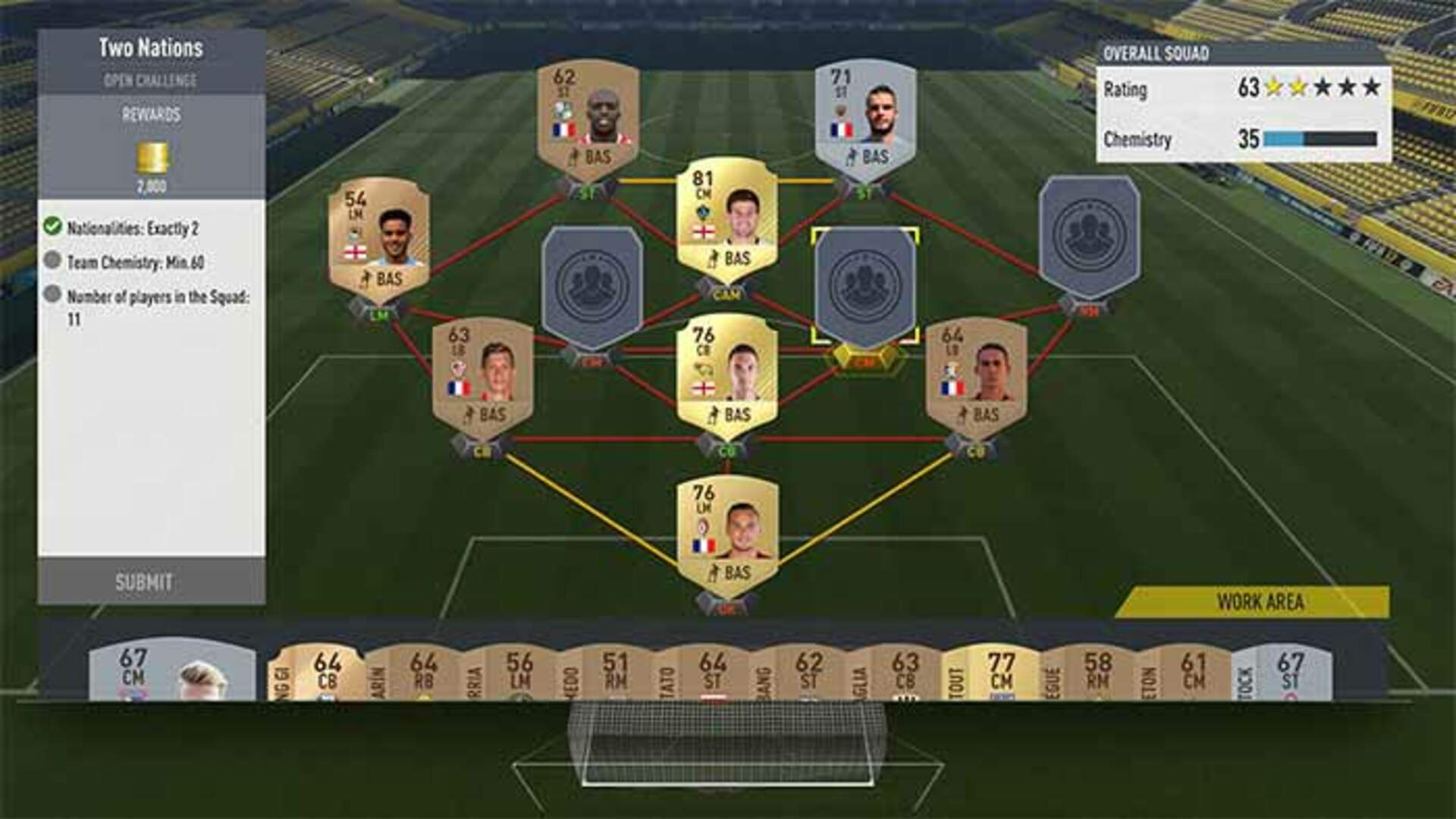 FIFA 17 Ultimate Team - Get the perfect line-up, and good team chemistry and fitness