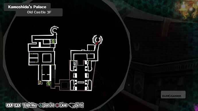 Head back towards the locked door but this time turn right into a long corridor. The first door on the left will take you into a library. & Persona 5: Kamoshida Palace - Torn King of Desire 3F Key for the ...