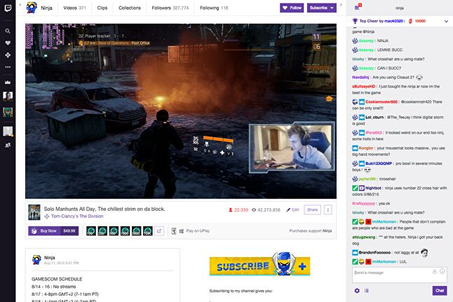 Gamers can buy directly from the streamer's page
