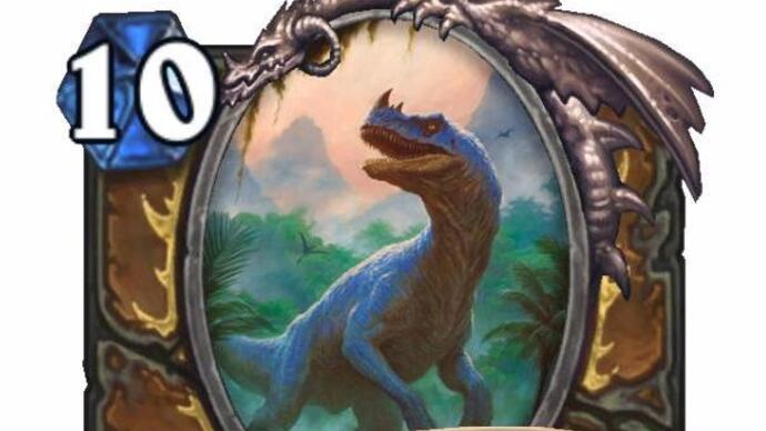 Here's a big new dinosaur card from Hearthstone's next expansion
