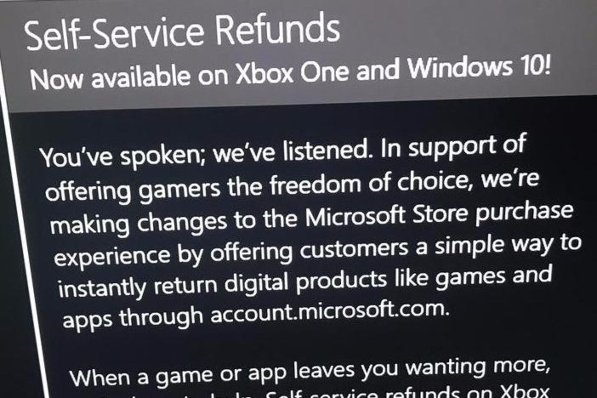 Microsoft is adding self-service refunds for digital Xbox