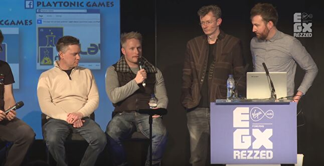 The Playtonic team on stage at EGX Rezzed 2015