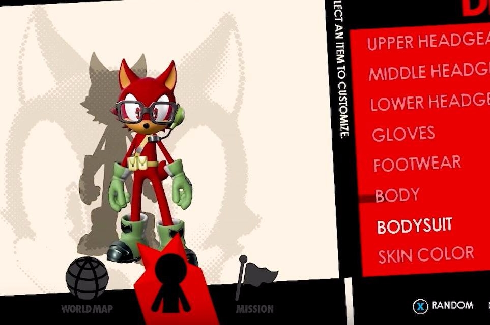 Sonic Forces Lets You Create Your Own Anthropomorphic Avatar