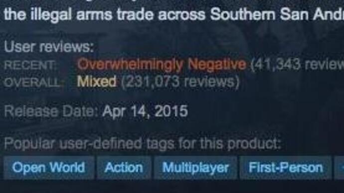 """GTA5's recent Steam reviews are """"overwhelmingly negative"""" amidst modcontroversy"""