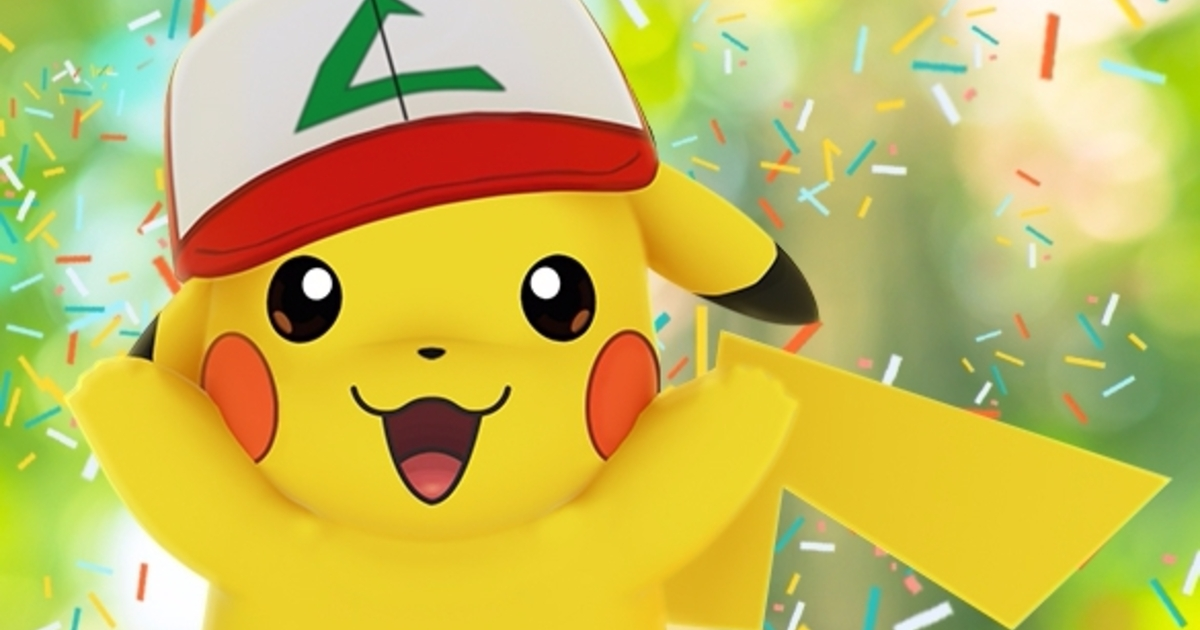 pok mon go ash hat pikachu anniversary event everything you need to know about anniversary. Black Bedroom Furniture Sets. Home Design Ideas