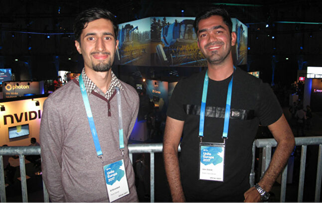 Ali Boroumand (L) and Amin Shahidi (R) worked together while living in Iran
