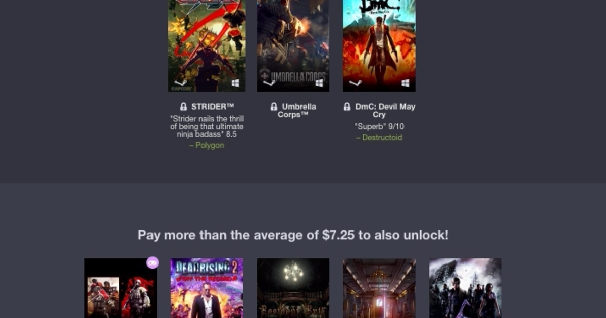 Capcom Humble Bundle lets you pay what you want for DmC