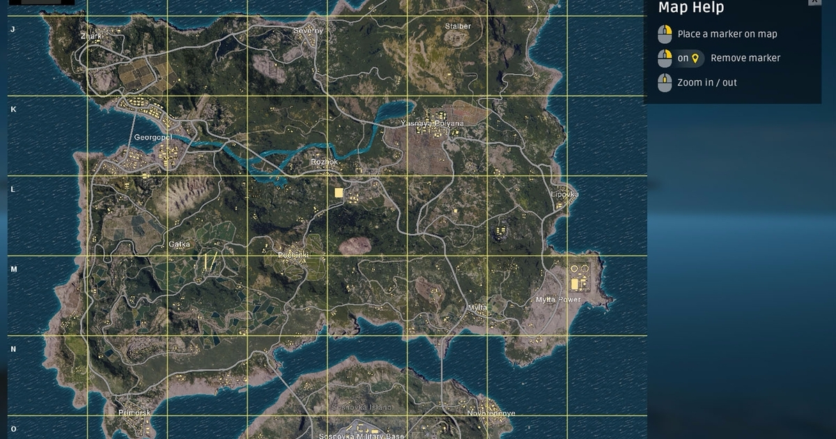 PUBG Erangel map explained size best start locations and Erangel