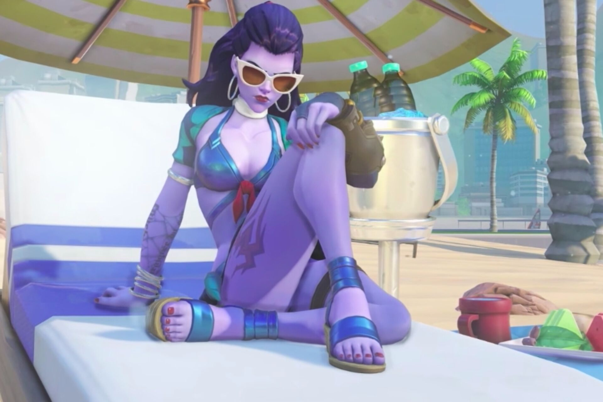 Behold Overwatch's beach-based Summer Games skins • Eurogamer.net