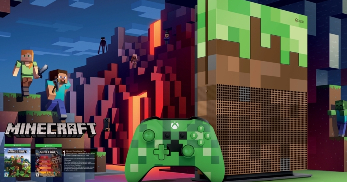 Behold The Minecraft Grass Block Themed Xbox One S