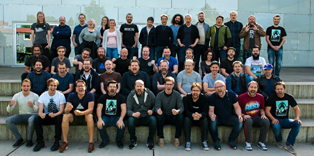 Funcom's team in Oslo, Norway