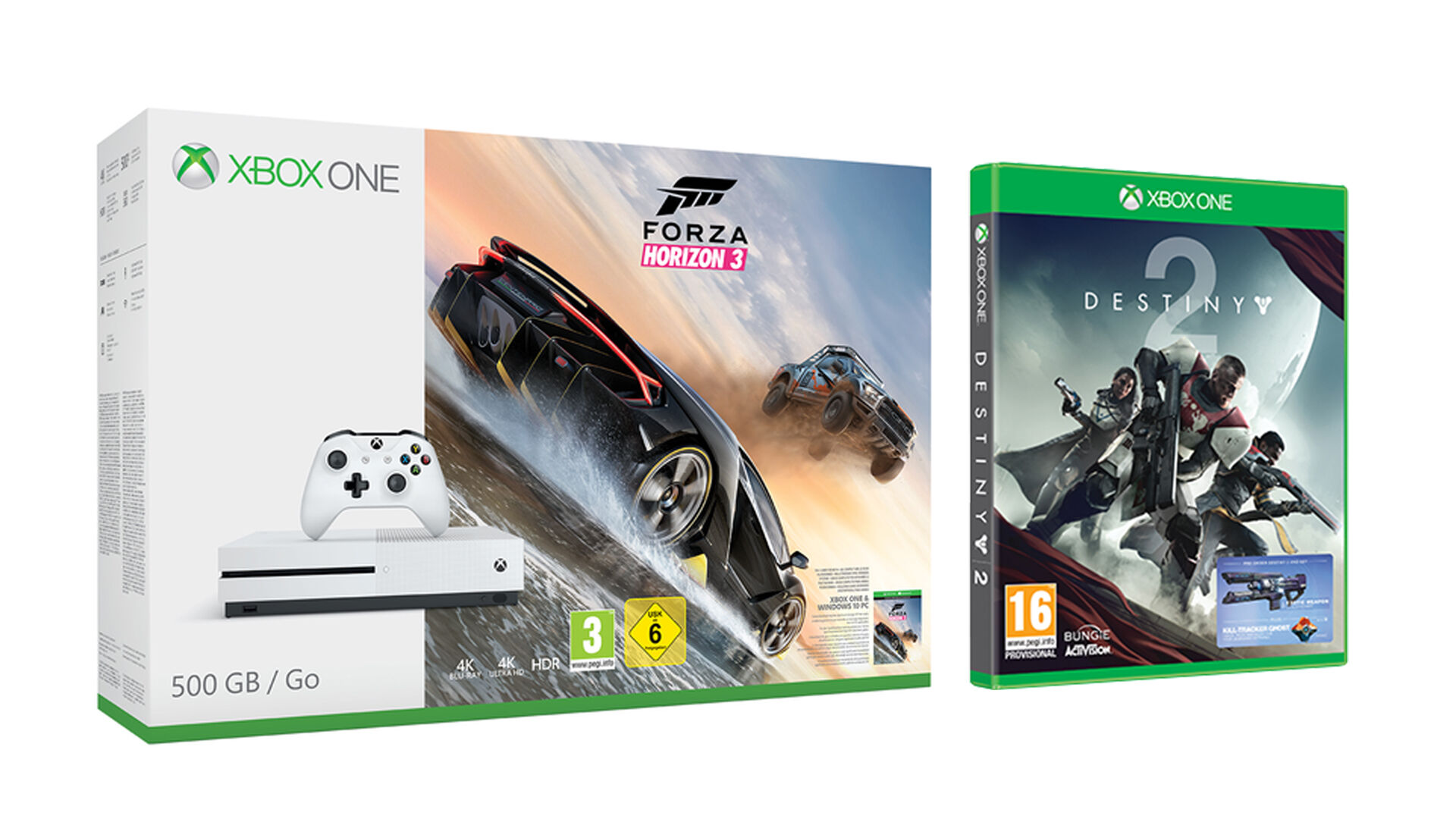 Jelly Deals: Xbox One S with Destiny 2 and Forza Horizon 3