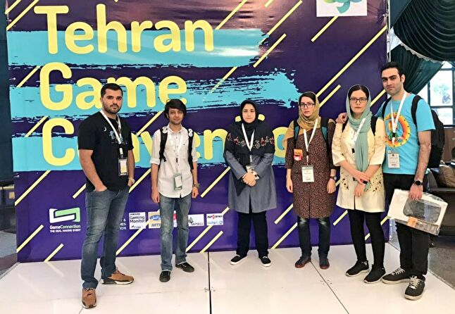 The Acid Green Games team at the Tehran Game Convention