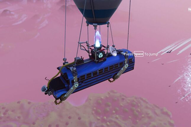 In Fortnite players leap from a bus, and the similarities don't end there