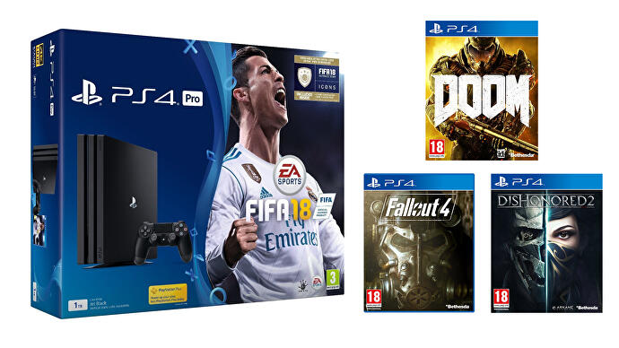 PS4_Pro_FIFA_18_Doom_Fallout_Dishonored_2
