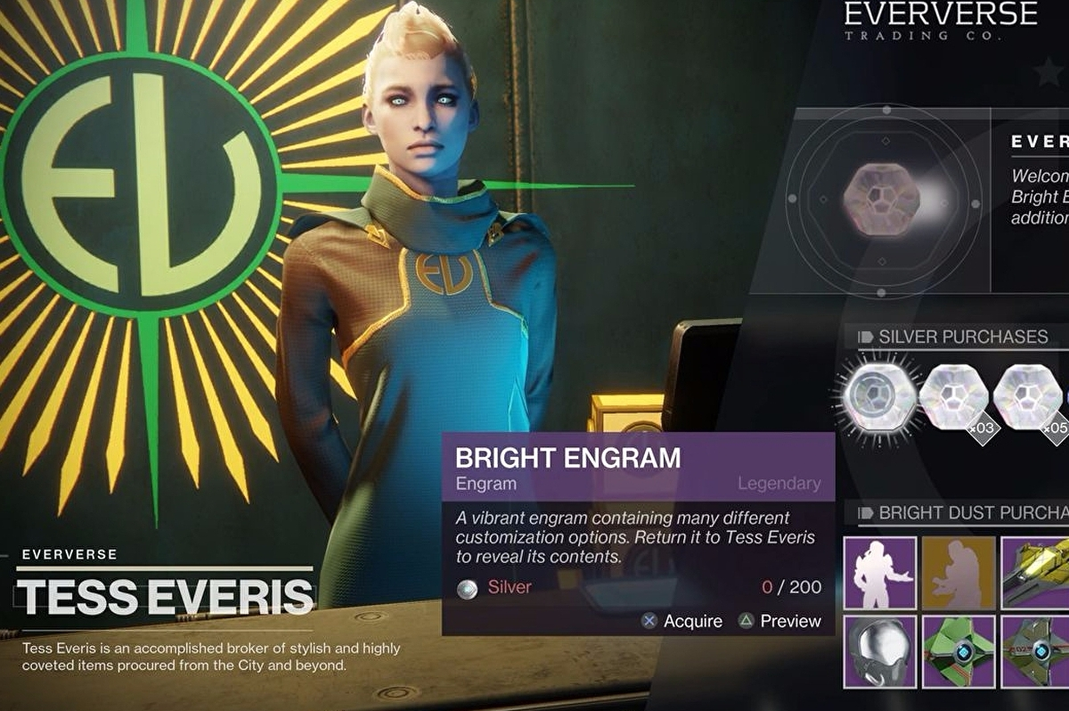 Destiny 2 Bright Dust, Armour Ornaments and Bright Engrams explained