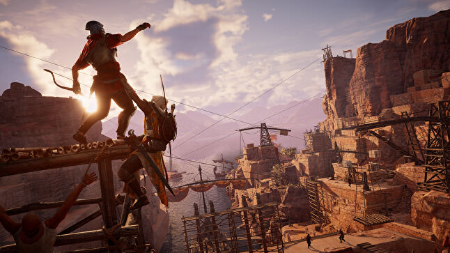 Origins aims to strike the balance between completely reinventing the series for a new audience, but also maintain the core of what makes Assassin's Creed so successful