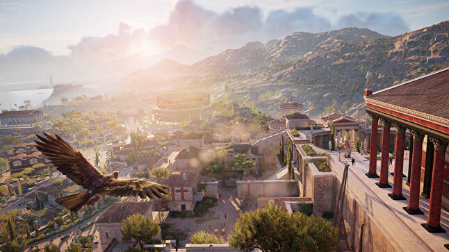 The eagle has been compared to Ghost Recon's drone, but Guesdon believes it's another tool to show how alive the world of Assassin's Creed can be