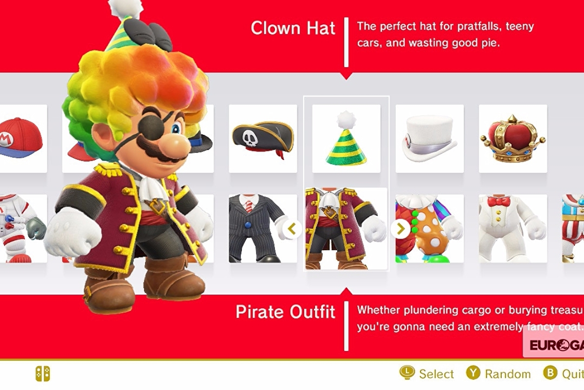 Super Mario Odyssey Outfits list - outfit prices and how to unlock