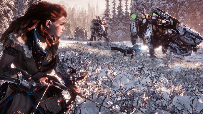 Horizon Zero Dawn - The Frozen Wilds gameplay getoond
