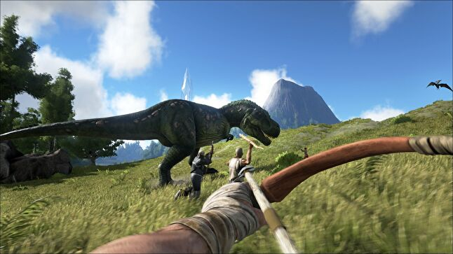 Ark looks and plays great on Xbox One X