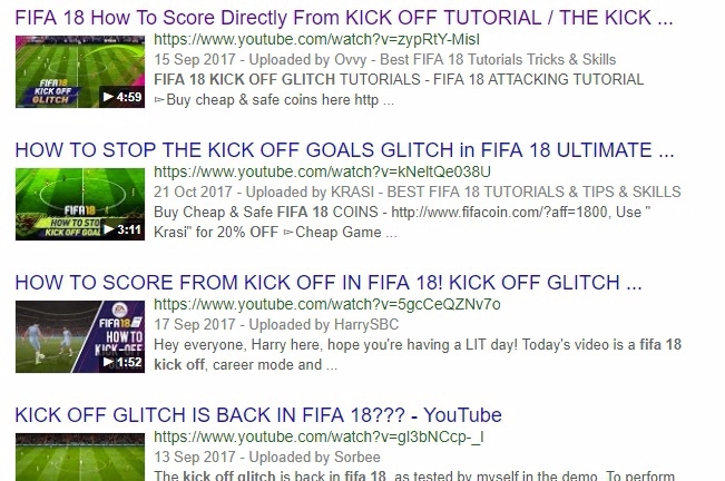 a638953fa9a Loads of FIFA 18 players are scoring straight from kick-off • Eurogamer.net