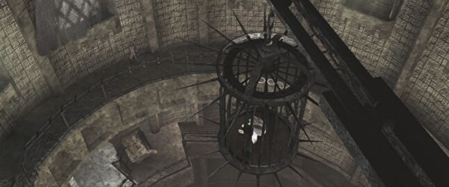 ICO works his way up to Yorda's cage. (Image from 2011 HD re-release.)