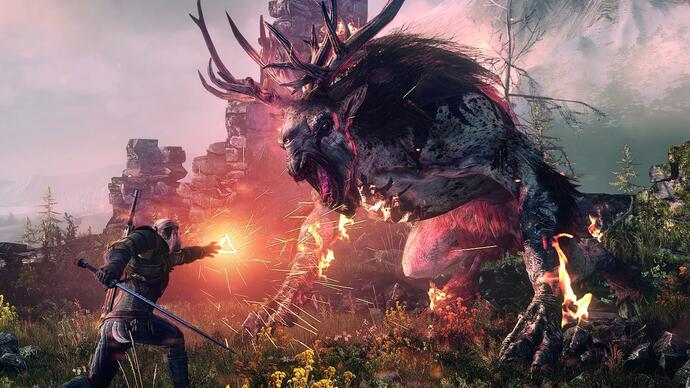 The Witcher 3 Xbox One X patch nuuit