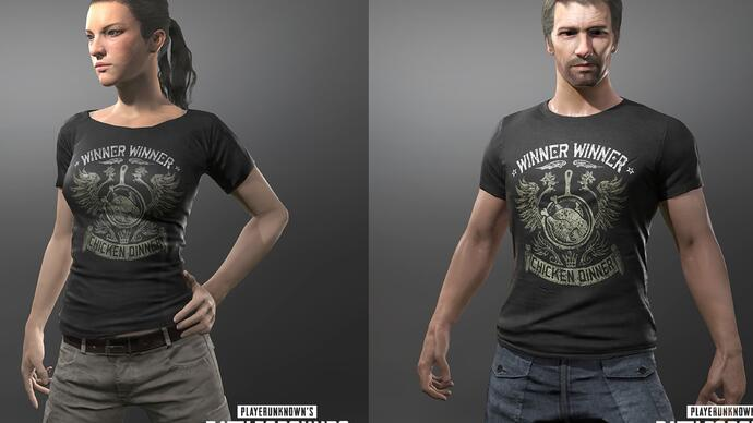 PUBG launch day celebrations include a free in-game Chicken Dinner t-shirt