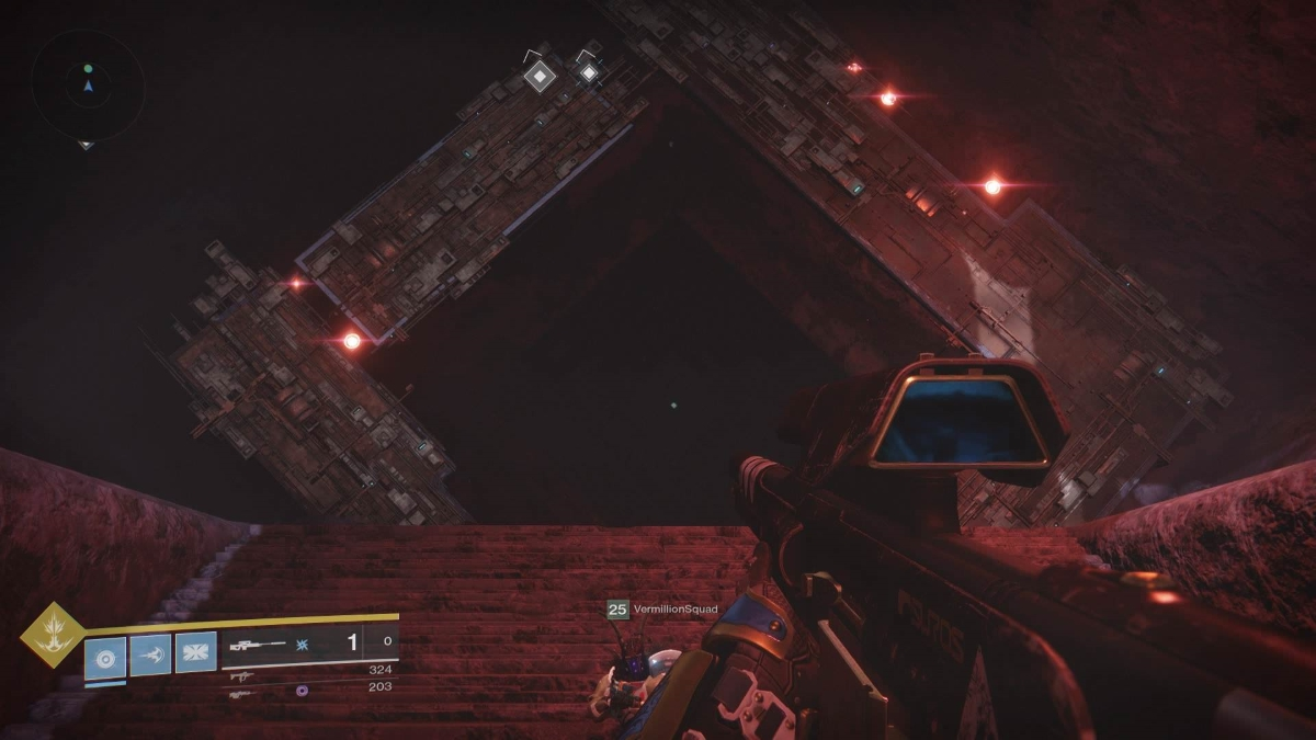 Redditor Wolvhammer Has Discovered A Figure Encased In Purple Tendrils While Battling Through The Up And Heroic Adventure Curse Of Osiris