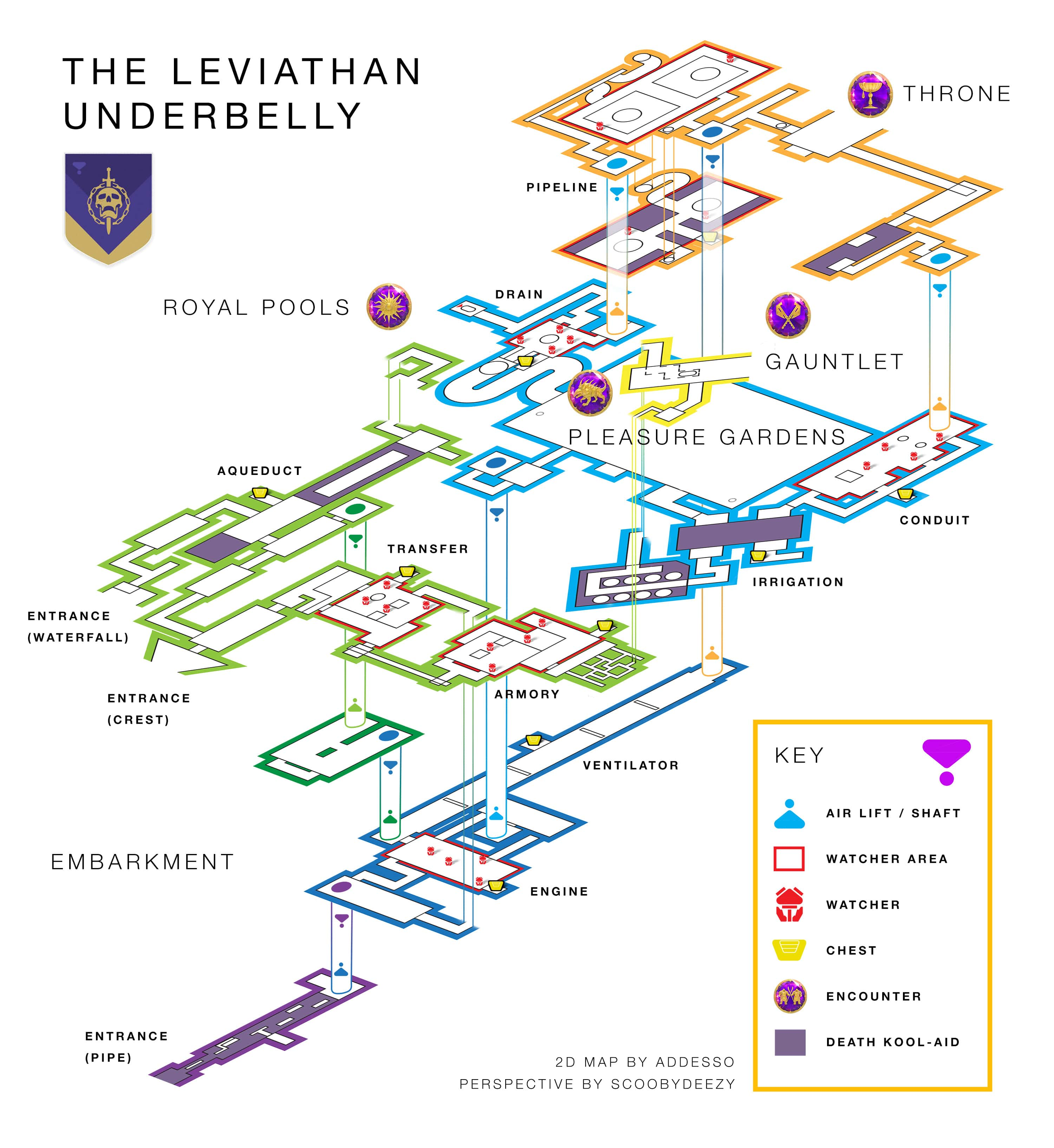 Destiny 2 Underbelly Guide Lever Combination And How To Find The Piping Layout Engine Schematic Above Weve Embedded A Brilliantly Constructed Map Of Leviathan Which Shows Its Entire In Really Helpful 3d Format