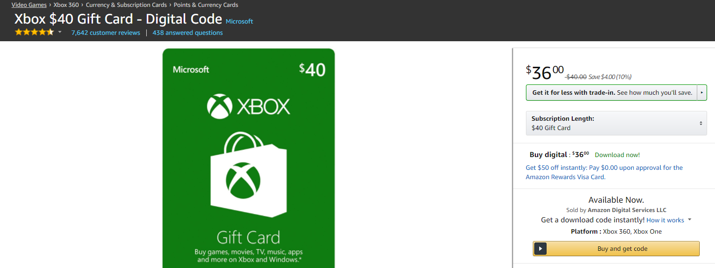 Save 10% on Selected Xbox Live Gift Cards | USgamer