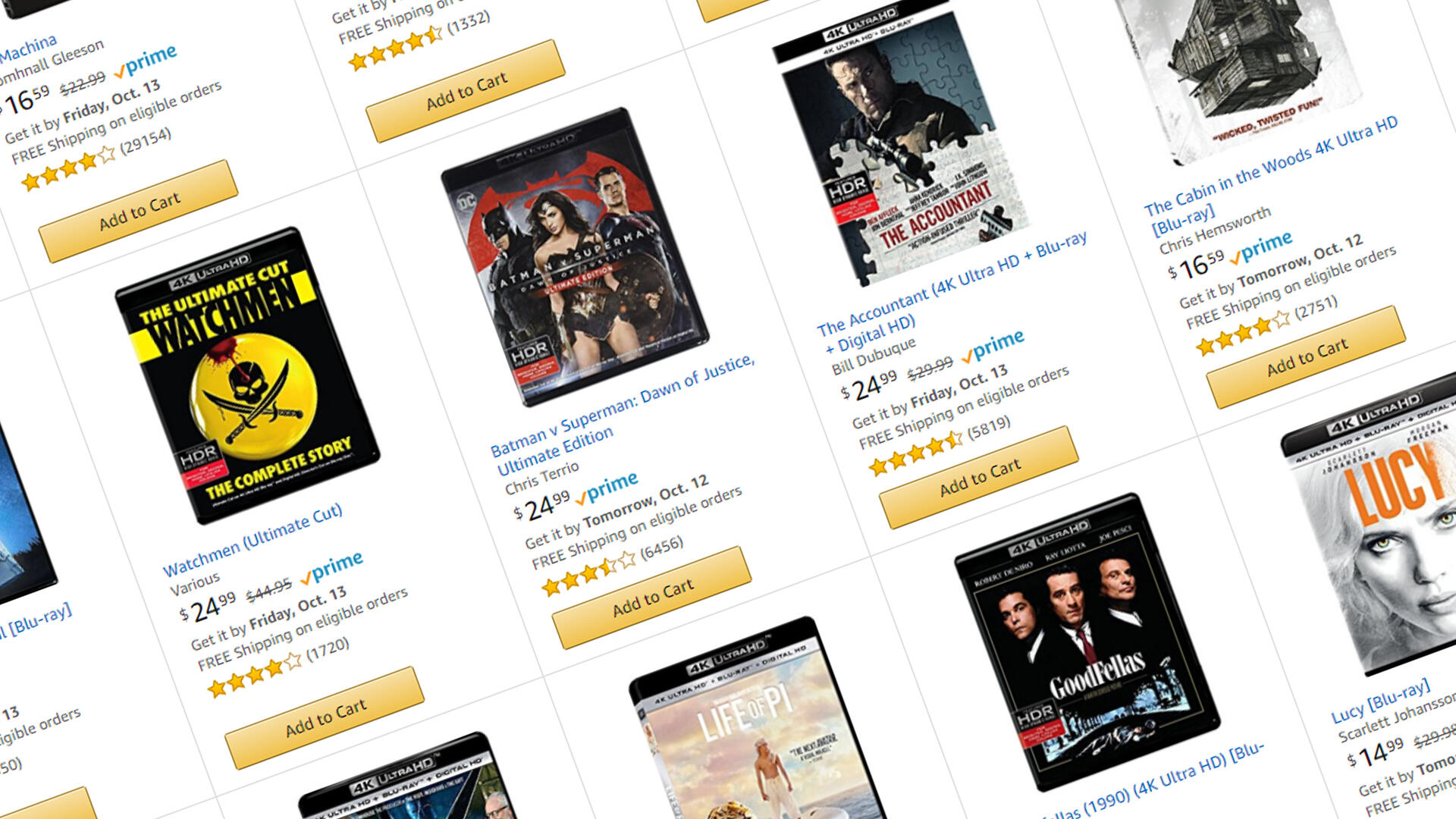 Pick Up Three 4K UHD Blu-Rays for $50 This Week