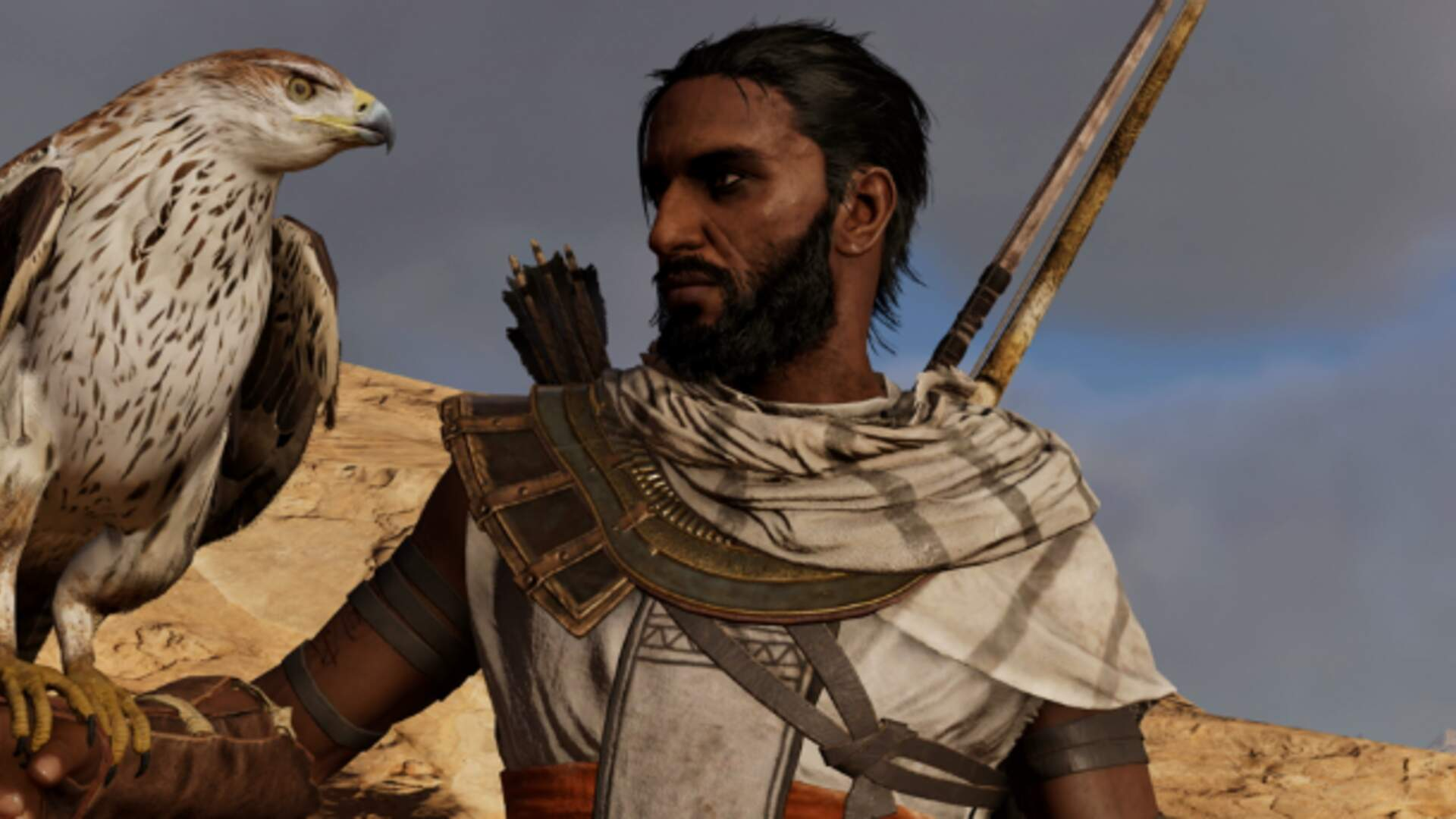 Assassin S Creed Origins Latest Patch Remembers Your Bayek Hair Preferences Usgamer
