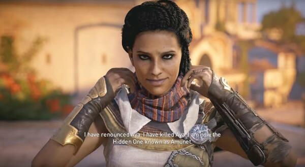 assassins creed origins aya voice actor