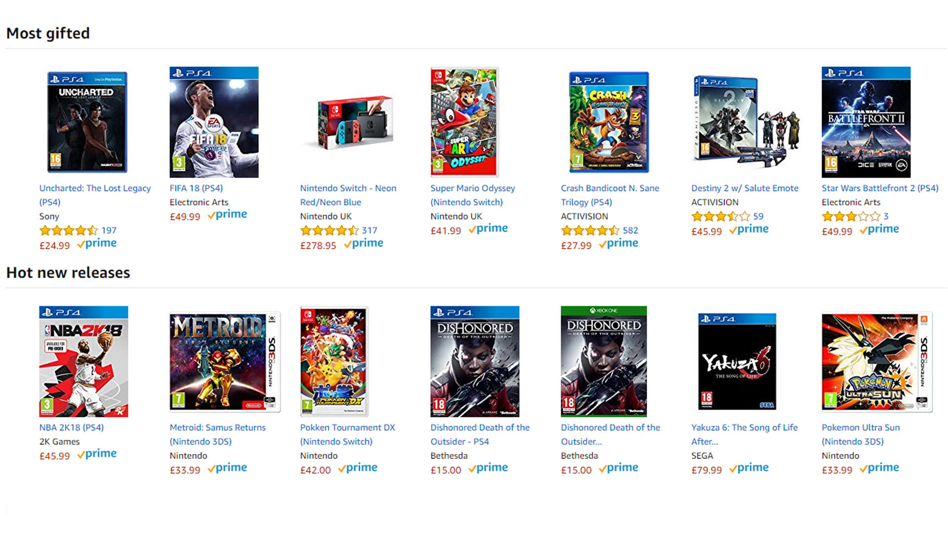 Amazon Prime Members Will No Longer Save 20 Percent on Physical Video Game Preorders
