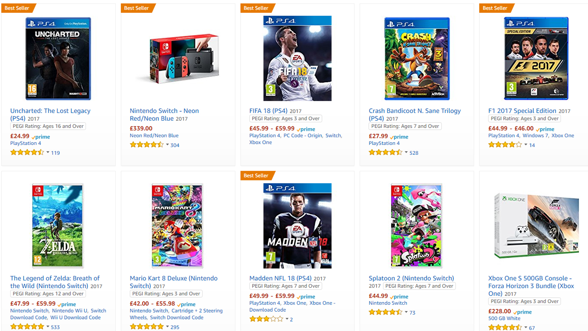 c5139346ce2 Amazon Prime Members Will No Longer Save 20 Percent on Physical Video Game  Preorders