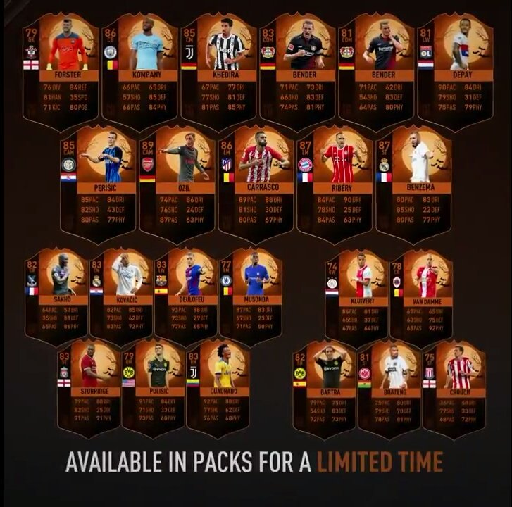 Fifa 18 Ultimate Scream Cards Halloween Event Start Time