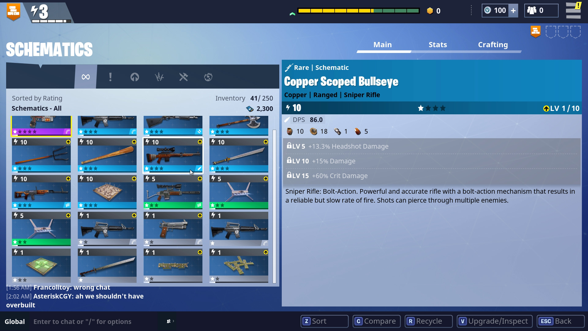 as you play you ll find either weapons and traps or schematics for both around the world alternatively you can win them from post mission treasure - fortnite save the world chest locations