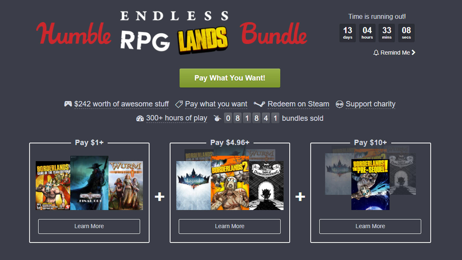 Get All of Borderlands and More in the Humble Endless RPG Lands Bundle