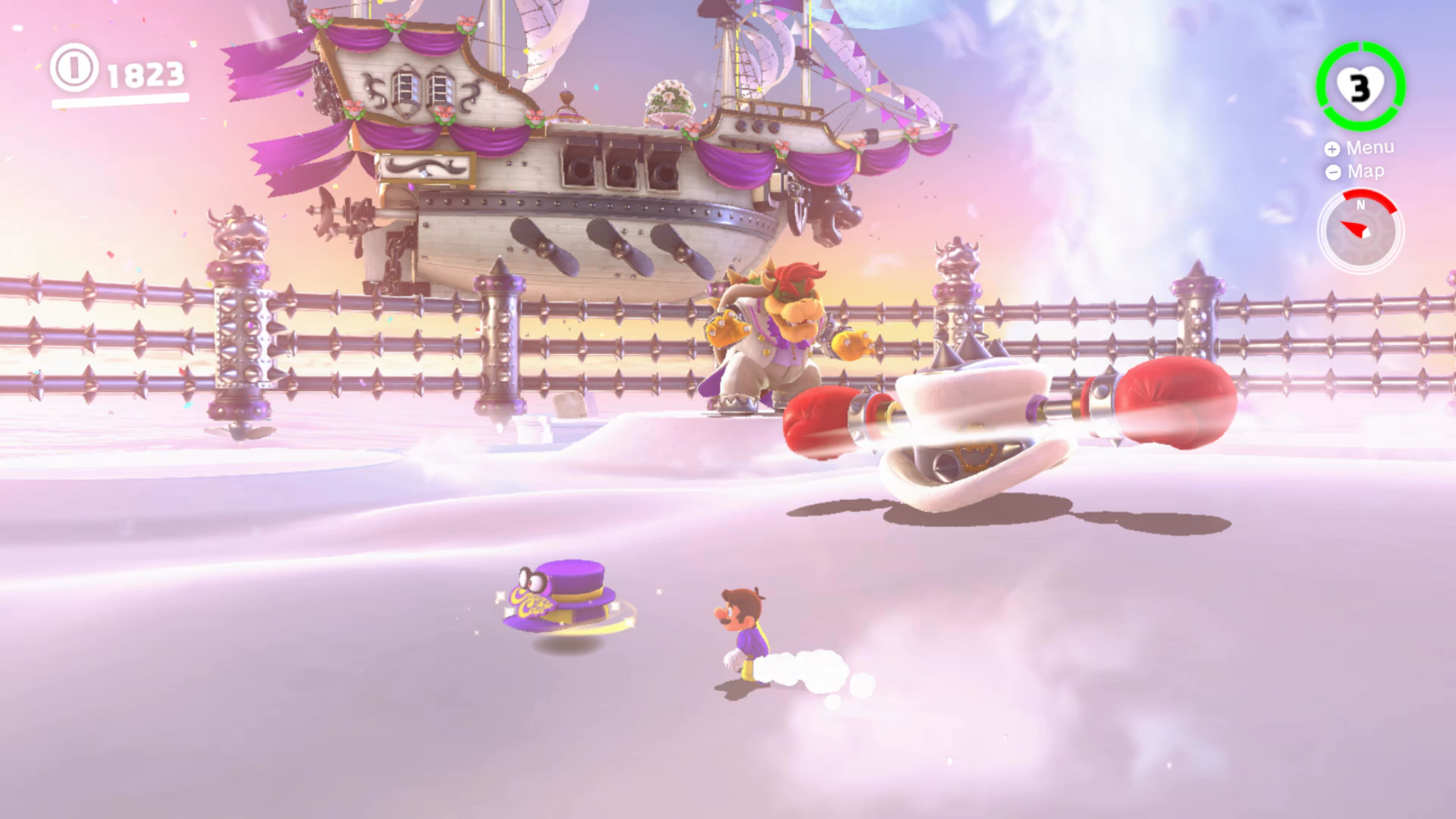 super mario odyssey cloud kingdom bowser fight all secrets usgamer