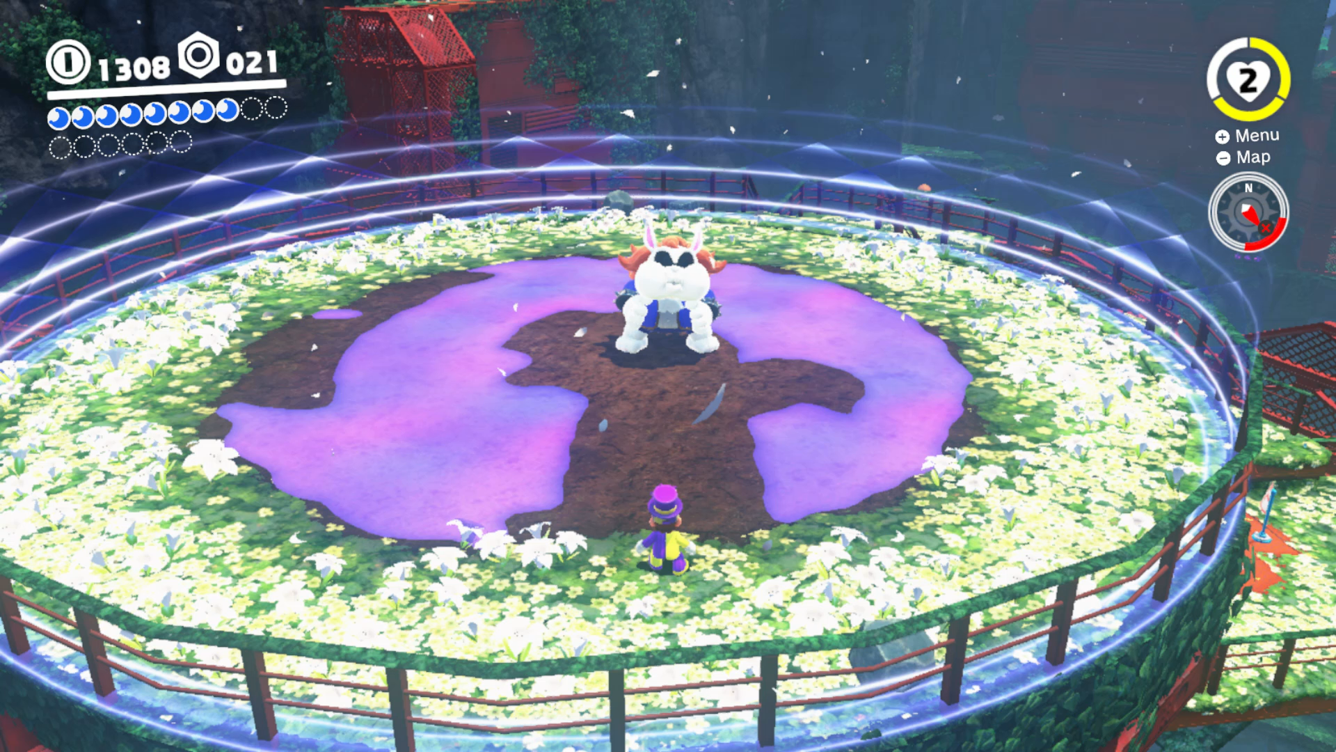 Super mario odyssey wooded kingdom moon locations all secrets at the top of the tower in the wooded kingdom youll reach another broodal fight this one surrounds himself with purple poison which you can disperse with mightylinksfo