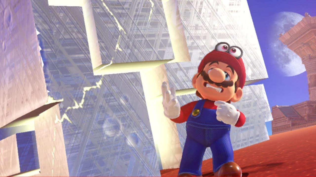 Super Mario Odyssey Moon Rocks - What are the Metal Cubes in Mario