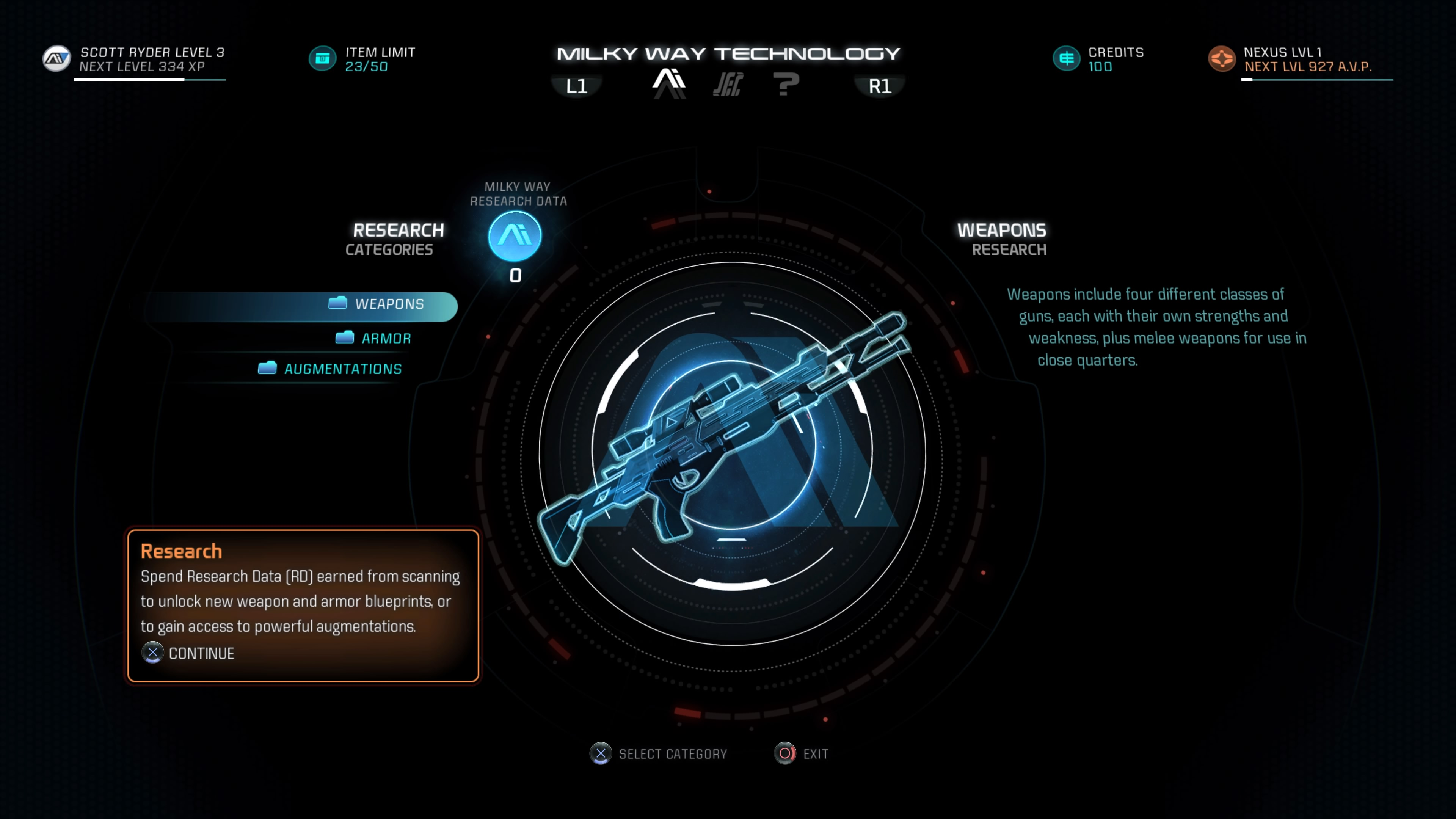 Mass effect andromeda research points crafting items scanning to build a blueprint use the research center and choose the research option from here you can see which blueprints you have the required data for you can malvernweather Images