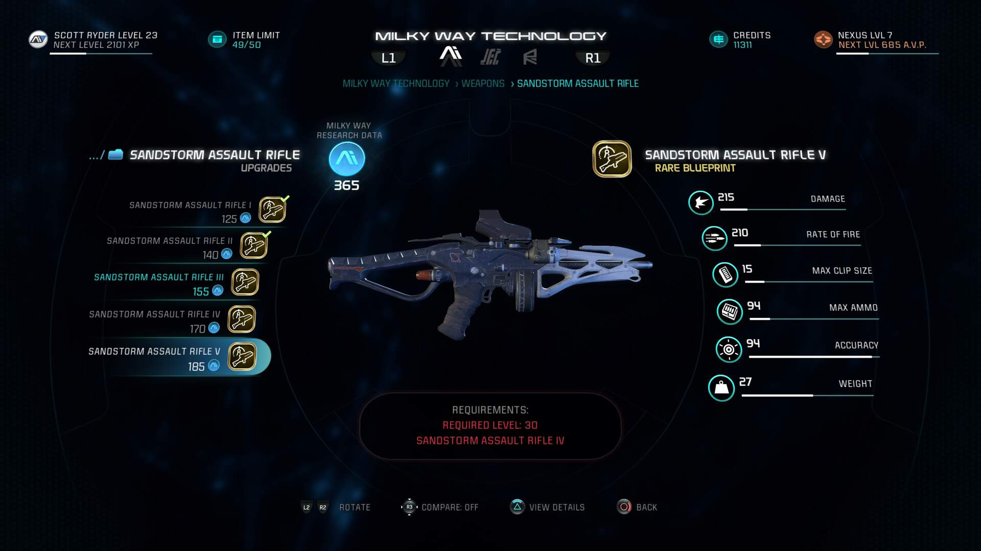 Mass Effect Andromeda Weapons - Maximum Weapon Slots, Mods, Augments, Best Loadouts