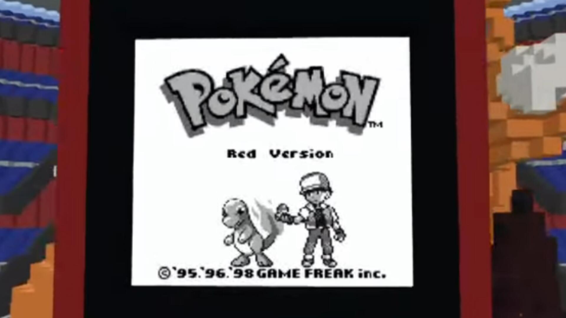 Pokemon Red Recreated Inside Minecraft