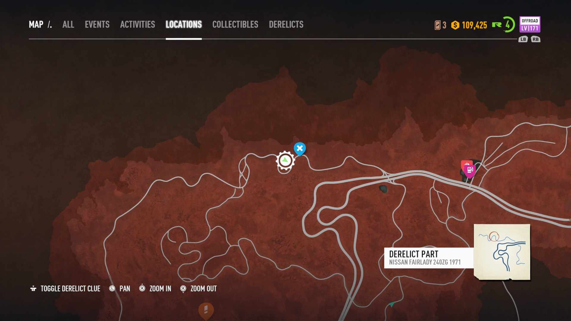 Need For Speed Payback Nissan Fairlady 240zg 1971 Derelict Parts Location League 73 Usgamer