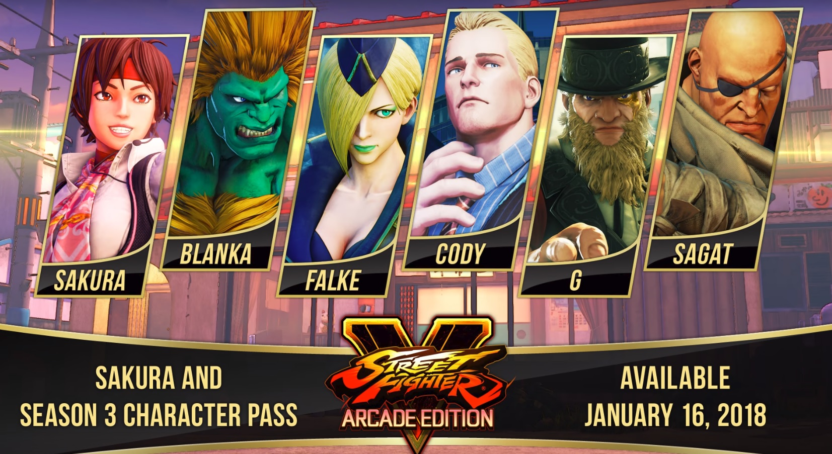 Street Fighter 5 Arcade Edition Adds Sakura Blanka And Sagat For